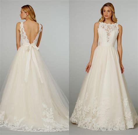 Vintage Chic Wedding Dresses by Vintage Lace Wedding Dress Open Back Naf Dresses