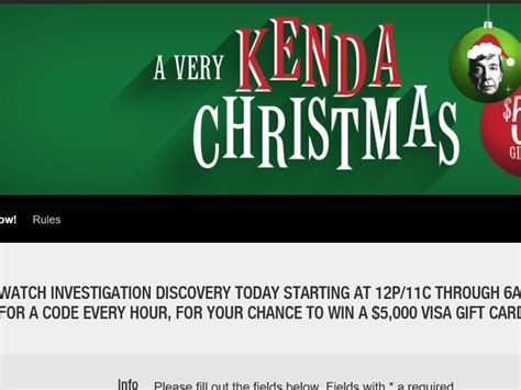 Id Investigation Giveaway - investigation discovery s a very kenda christmas 5k giveaway sweepstakes