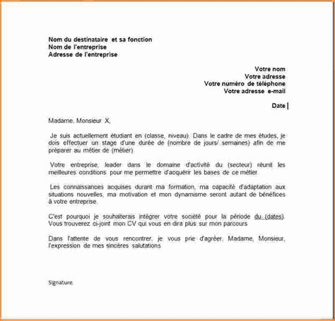 Lettre De Motivation Demande De Visa Sã Jour 2 Exemple Lettre De Motivation Stage Exemple Lettres
