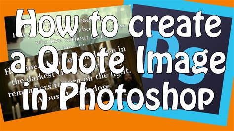 photoshop tutorial quote how to make a quote picture photoshop tutorial youtube