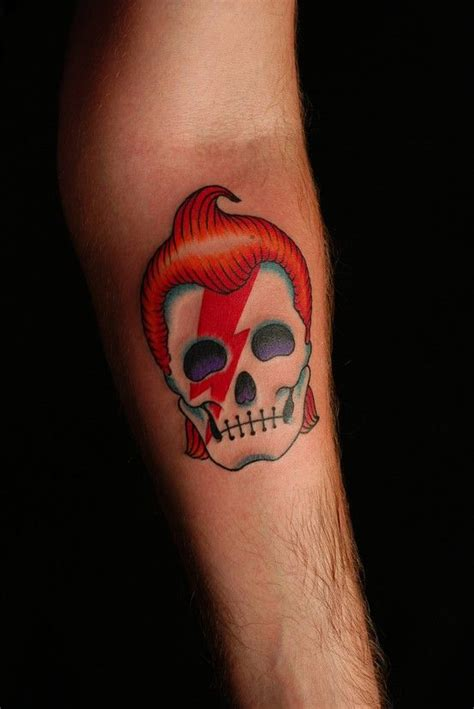 ziggy stardust tattoo ziggy stardust most likely getting this tattoed skull