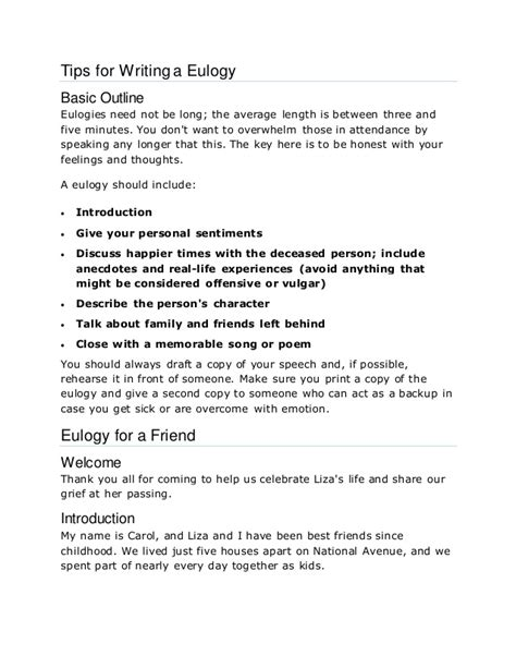 eulogy outline template eulogy template wordscrawl