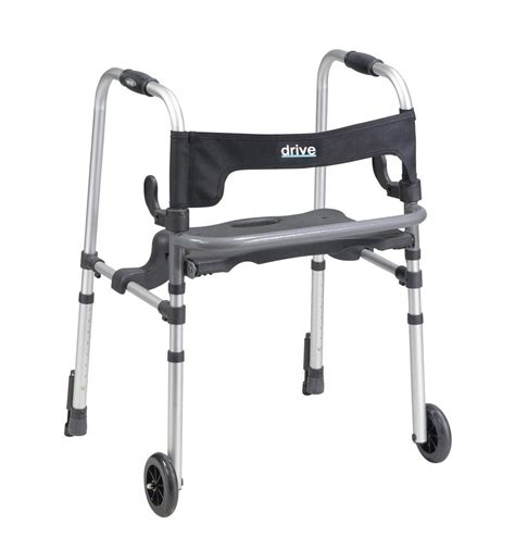 rollator walker with seat and brakes drive clever lite ls rollator walker
