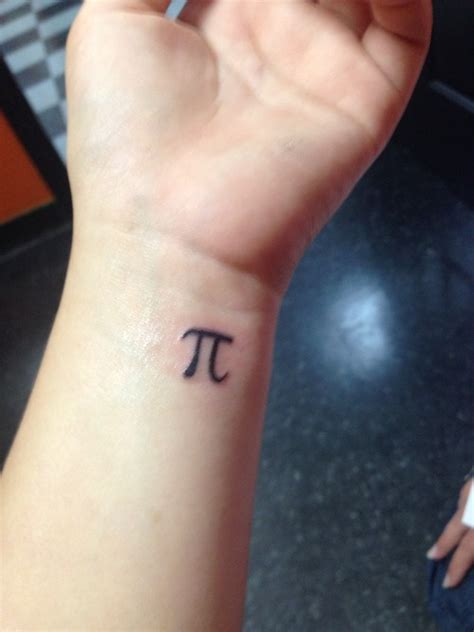small ink tattoos black ink small pi on wrist