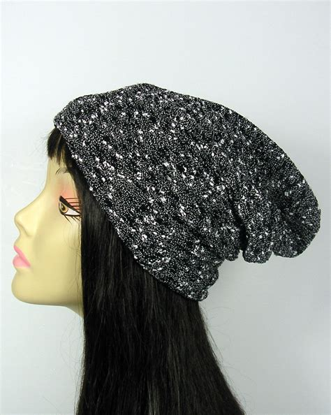 white knit hat black and white reversible knit hat lightweight black and