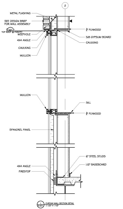 curtain wall to slab detail commercial building plans by raymond alberga at coroflot com