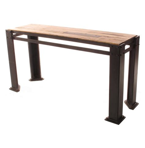 Reclaimed Console Table Rigger S Reclaimed Teak Wood Chunky Leg Console Table Kathy Kuo Home