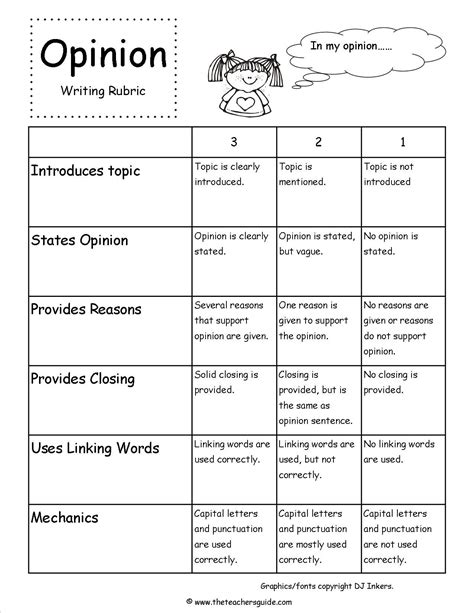 Facts Essay Writing by Opinion Writing Prompts Rubric Writing Opinion