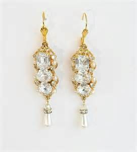 gold chandelier earrings for wedding gold chandelier earrings bridal wedding crystals