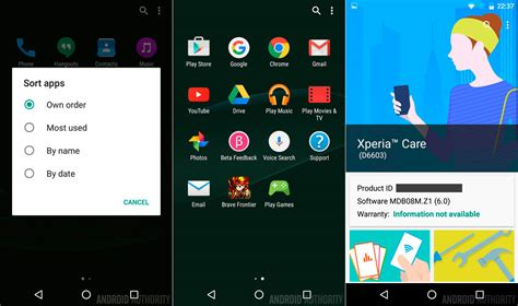 Hp Sony Android Marshmallow as 237 ser 225 la interfaz de sony en android 6 0 marshmallow