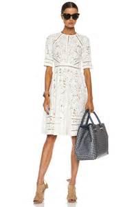 zimmermann roamer day cotton dress in white lyst
