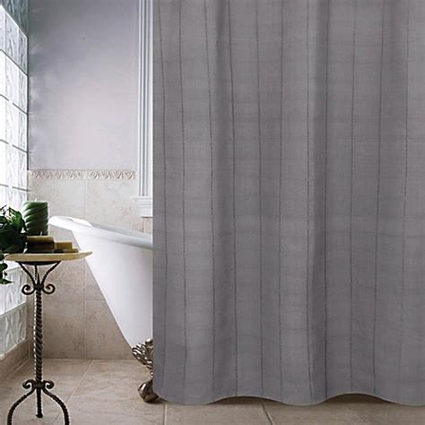 slate shower curtain buy park b smith madison 72 inch shower curtain in slate