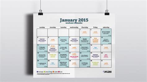 fresh start january beginner workout calendar