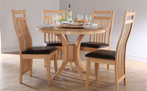 oak dining room table and chairs somerset bali round oak dining room table and 4 chairs set ebay