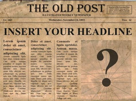 newspaper poster template free editable newspaper powerpoint template