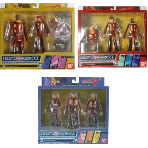 figure cyborg 009 cyborg 009 figures complete 3 boxes collection set