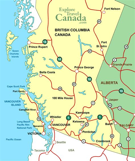 map of columbia map vancouver columbia