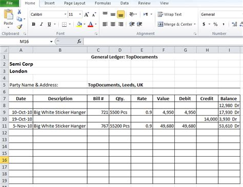 Top 5 Free General Ledger Templates Word Templates Excel Templates Accounting Ledger Template Excel