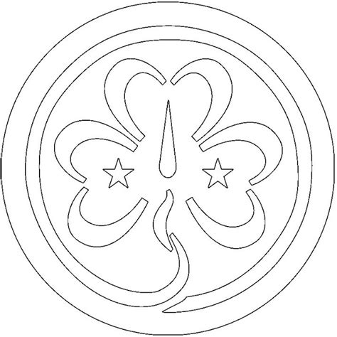 Guide Trefoil Outline by Trefoil Coloring Page Scouts Daisies Coloring Logos And Coloring Pages