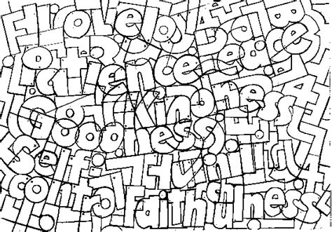 free fruit of the spirit goodness coloring pages