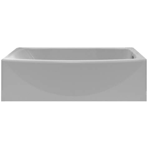 Shop American Standard Saver Arctic Acrylic Oval In Rectangle Skirted Bathtub With