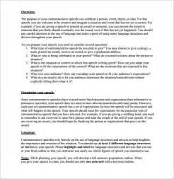 speech template speech outline template 9 free sle exle format