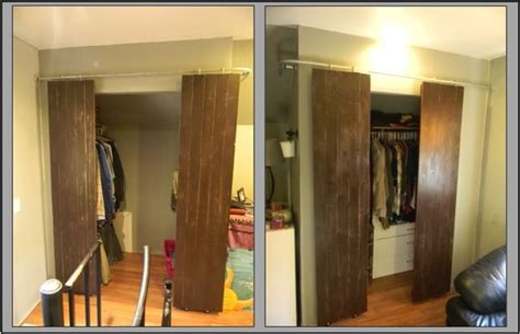 Converting Sliding Closet Doors To Doors by Closets With Sliding Barn Style Doors 6 Steps With Pictures