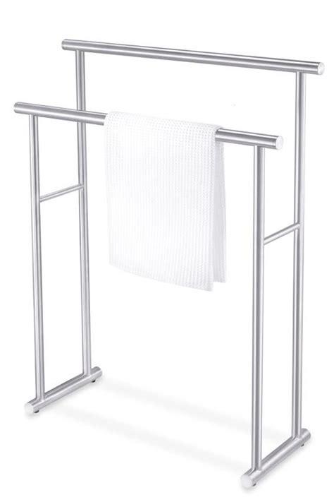 free standing towel racks for bathrooms bathroom accessories free standing towel rack pinteres