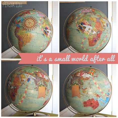 Decoupage World - small world decoupage globe vintage disneyland room
