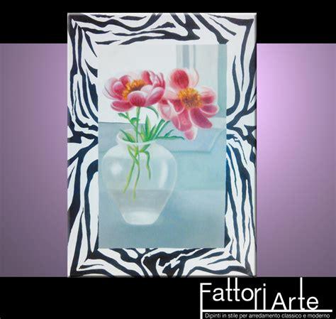 quadri moderni con cornice foto quadri moderni fiori con cornice zebrata de