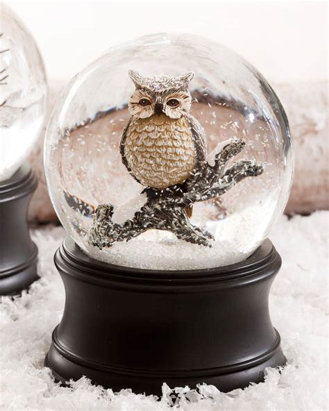 musical let it snow l post musical owl snow globe balsam hill