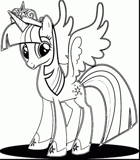 My Pony Coloring Pages Princess Twilight Sparkle Alicorn unique my pony coloring pages princess twilight