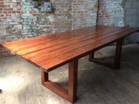 Wood Conference Table Rustic Wood Dining Conference Table
