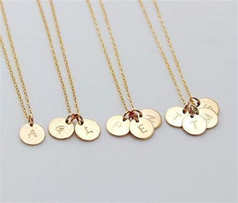 How To Buy Gold Jewelry 2 by 1 2 3 4 Circle Initial Pendant Necklace Customized Small
