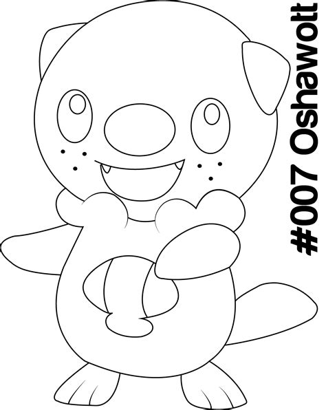 coloring pages of pokemon oshawott pokemon oshawott coloring pages free coloring pages of