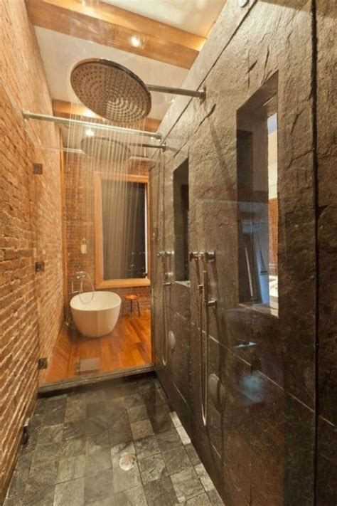cool bathroom designs  brick walls comfydwellingcom