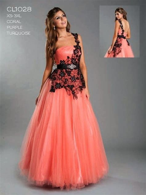 Unique Dress unique prom dresses 13aspcl1028 coral one shoulder