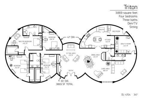 monolithic dome homes floor plans floor plan dl 4704 monolithic dome institute