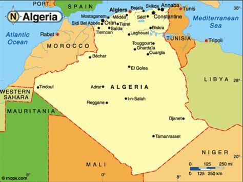 algeria map with cities capital of algeria map