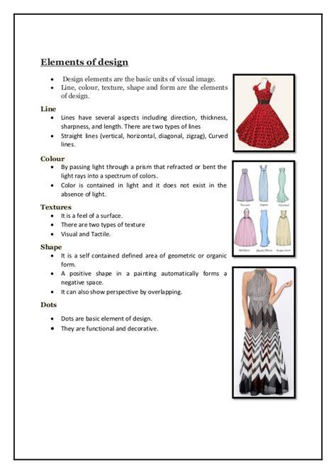 fashion design elements and principles priyanka diploma fashion technology project