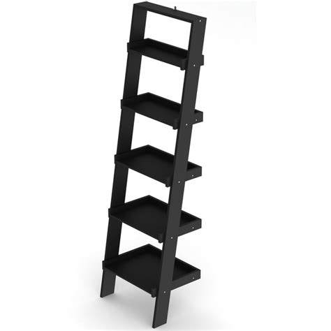 estante spaceo estante decorativa madeira preto 189x54x40cm ipanema