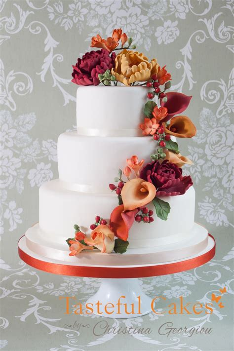 Flower To Decorate A Wedding by Wedding Cakes With Cascading Flowers Cake Decorating