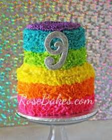 Rainbow Minny Roll rainbow cake necklace neon cake confetti by