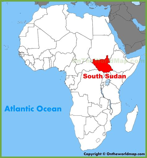 south sudan map south sudan location on the africa map