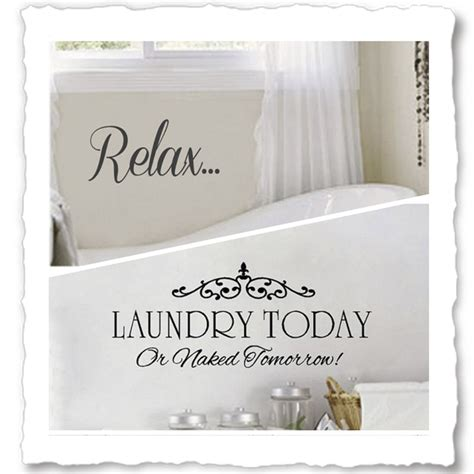 bathroom sayings for walls vinyl wall quotes for bathroom laundry room wall decals
