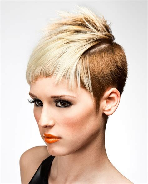trendy hair salons in allen a short blonde hairstyle from the salon visage collection
