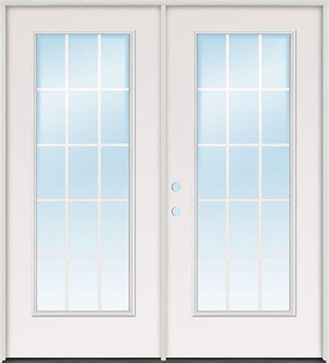 15 light exterior door discount 6 0 quot 15 lite gbg steel patio prehung door unit