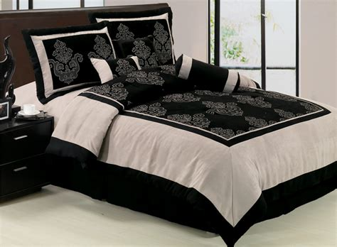 California King Black Comforter by 7pcs Cal King Black Chenille Suede Block Comforter Set Ebay