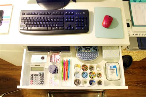 Organizing Desk Iheart Organizing Basement Progress An Organized Studio Desk