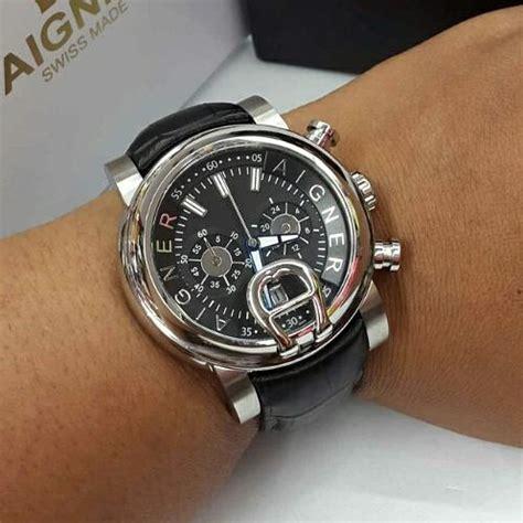 Aigner Bari Polos Kulit jual jam tangan wanita mewah elegan aigner bari itali